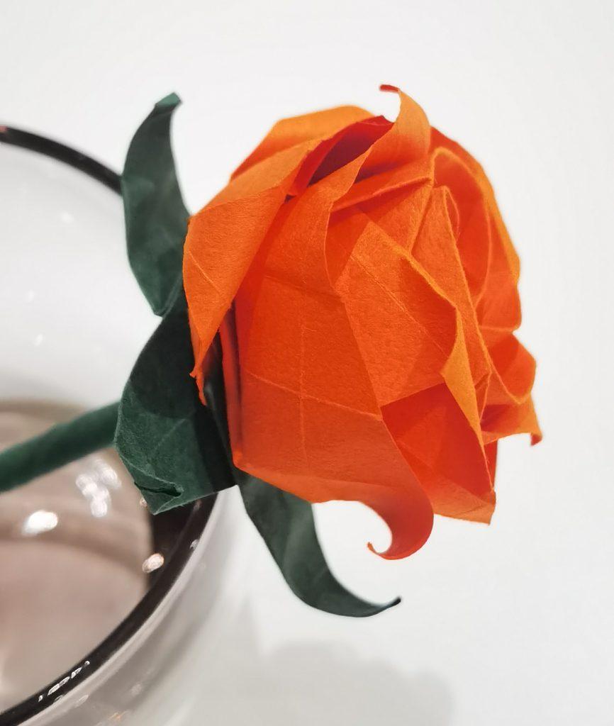 Rose origami